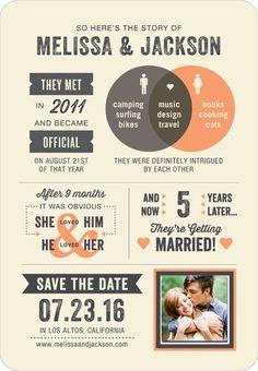 Tender Timeline - Save the Date Magnets - Magnolia Press - Tangerine - Orange : Front