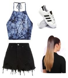 """""""Untitled #28"""" by haileymagana on Polyvore featuring Ksubi and adidas"""