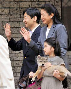 Crown Prince Naruhito,Crown Princess Masako, Princess Aiko and their puppy.