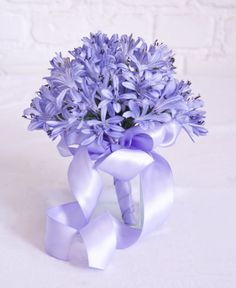 bridesmaid bouquet of agapanthus flowers