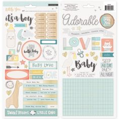 Crate Paper Little You boy stickers Accents