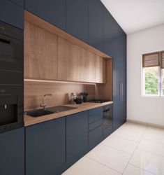 Minimal Kitchen Design, Kitchen Sink Design, Luxury Kitchen Design, Kitchen Layout, Interior Design Kitchen, Modern Kitchen Cabinets, Open Plan Kitchen Living Room, Home Decor Kitchen, Home Kitchens
