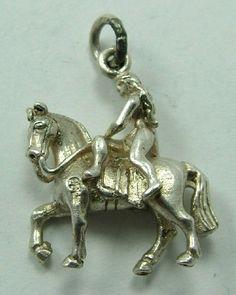 Vintage Silver Charm - Lady Godiva