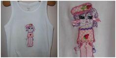 Chipy Octobre rose brodée par Cindy.  #Octobrerose #Toutlemondeasachipy #Petitebiounette Graphic Tank, Tank Tops, Women, Fashion, Pink October, World, Everything, Embroidery, Moda