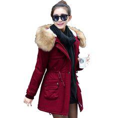 Купить товар2016 женская куртка ватная куртка женская зимняя куртка верхняя одежда женщин куртки тонкий средней длины парки красный пальто DD22 в категории Пуховики и паркина AliExpress.      2016 женская куртка ватная куртка женская зимняя куртка верхняя одежда женщин куртки тонкий средней длины парки кра