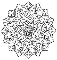 Mandalas for children - Simple Mandalas coloring page to print and color for free. From the gallery : Mandalas. Just Color Kids : Coloring Pages for Children : Discover all our printable Coloring Pages for Adults, to print or download for free ! Leaf Coloring Page, Free Adult Coloring Pages, Flower Coloring Pages, Mandala Coloring Pages, Coloring Pages To Print, Coloring Book Pages, Kids Coloring, Coloring Sheets, Free Coloring