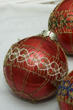 Vianočné paličkované gule #handmade #art #christmas