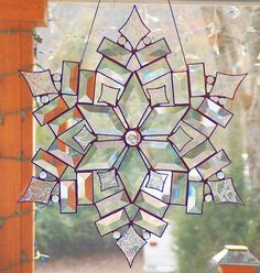 Stained+Glass+Star+/+Snowflake++The+Stars+of+Today+by+BeadedGlass,+$144.00