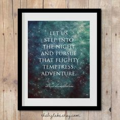 pursue adventure - harry potter quote - dumbledore - harry potter art - poster - jk rowling - literature - books on Etsy, $10.00