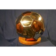 Appollo steel football Mirror Stainless Steel and Copper size 5 Football Engraved with Company Logo, Team Crest, Personalised to suit your needs, Soccer Ball, Unique, Presentation, Copper, Company Logo, Stainless Steel, Football, Mirror, Sports