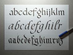 Workshop Flat pen Letters on Behance