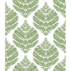 "Winston Porter Hygge Fern Damask 3.12' L x 21"" W Smooth Peel and Stick Wallpaper Roll 