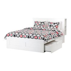 Here is a bed that is better suited to what Zoe already has ordered. The finish will be a good match, it has the storage she wants, Bookcases on both sides of the bed, A storage place on top of the headboard and I can find gold handles for the pull out drawers to match the Rowan furniture she has already ordered.