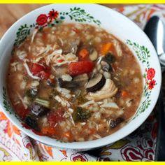 Chicken, Mushroom, and Barley Soup
