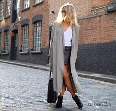 2015 Modası Uzun Paltolar - #fashion #2015 #moda