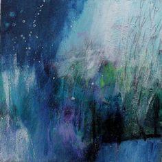Little Blue Abstract Small Landscape door kerriblackmanfineart