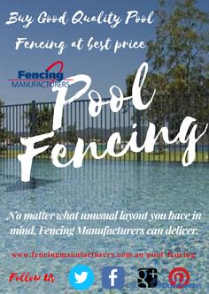 The range of styles and colours is almost endless. Pool fencing should be simple and unobtrusive whilst boundary and front fencing should be stylish and decorative. Panels are manufactured to your requirements, including curved, raked and down slopes. No matter what unusual layout you have in mind, Fencing Manufacturers can deliver.