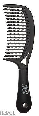 "Luxor Pro ""THE WET COMB pro select "" WAVE TOOTH DETANGLING SHOWER COMB _ BLACK"