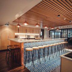 'Trippie Sixsmith' Three Legged Bar Stool with Chunky Sycamore Seat — Paul Frampton Design Ltd Home Decor Kitchen, Kitchen Interior, New Kitchen, Home Kitchens, Kitchen Design, Kitchen Island, Cafe Design, House Design, House Extension Design