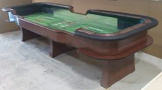 14 foot craps table with traditional legs