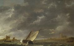 The Maas at Dordrecht in a Storm  about 1645-50, Aelbert Cuyp