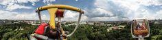 Вид на Минск с колеса обозрения в парке Горького, Minsk, Belarus Panoramic Photography, Good Things, Park, Parks