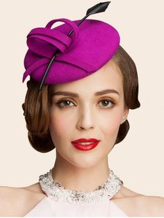 GET $50 NOW | Join RoseGal: Get YOUR $50 NOW!http://www.rosegal.com/hats/wool-spiral-band-feather-cocktail-796774.html?seid=1424208rg796774