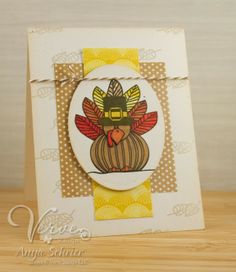 Card by Anya Schrier using Bountiful Harvest from Verve Stamps.  #vervestamps