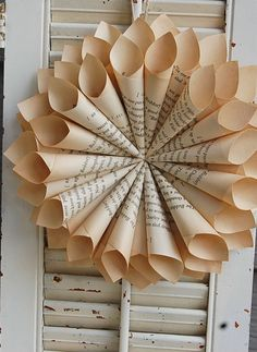 Book Wreath - love this for my writing room.