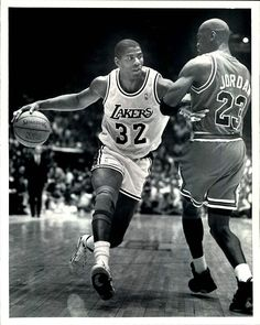 BASKETBALL │ LOS ANGELES LAKERS ■ Magic JOHNSON and Michael JORDAN