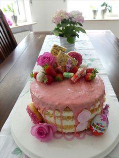 Geburtstagstorte Dripped Cake