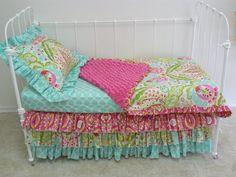 Toddler bedding with Kumari Garden. I love the colors!!