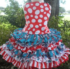 Cat in Hat Dr Seuss Fabric Thing 1  2 Piece by hottotscoolkids2, $84.00