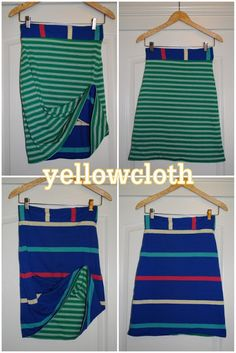 yellowcloth: reversible skirt tutorial - I would use different fabrics but great idea, especially to take on vacation.