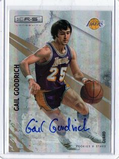2010-11 Rookies & Stars Gail Goodrich Autographed Card #D/49 Los Angeles…