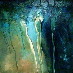 """""""BREAKWATER"""" 11001 by Carol Nelson Acrylic ~ 36 x 36"""