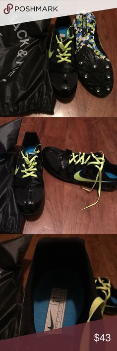 Nike Track Spikes Nike track spikes, for male sprinters.  Spikes were only used 1 time.  Spikes and tool are included along with a bag to hold everything in Nike Shoes Athletic Shoes