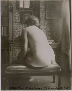 Nude, back view, in an interior, 1921 - Eugène Atget