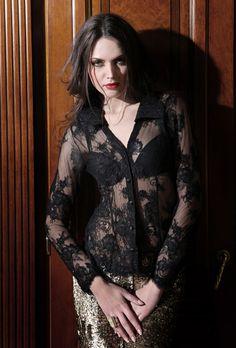 Dana Pisarra Exclusive Lingerie and Beachwear|Couture lace blouse |CAZAR