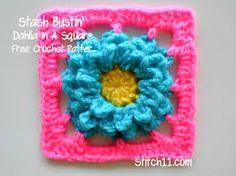 square flower crochet - Pesquisa Google