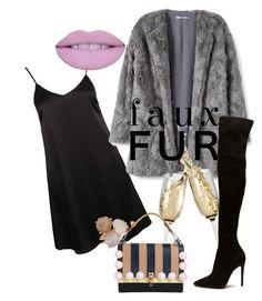 """Faux Fur"" by cami-lanfranconi-cl on Polyvore featuring moda, Glamorous, MANGO, Fendi e Ippolita"