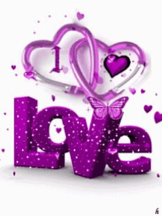 Glittery love!!! Bebe'!!! Purple love!!!