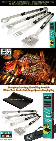 Heavy Duty BBQ Grilling Essentials   Kitchen Tools Bundle: Fork, Tongs, Spatula, Carrying Bag, FREE Bonus Mat. Extra Long Stainless Steel Handles   Easy Clean Up At Home or Camping   Gift Box for Men #drone #have #racing #products #camera #parts #tech #technology #kit #grills #fpv #fun #shopping #gadgets #to #want #plans #just