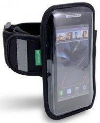 Armband to hold phone for active people.