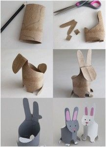 Crafting Animals From Toilet Paper Rolls Toilet Paper Crafts, Toilet Paper Roll, Rabbit Crafts, Recycled Crafts Kids, Summer Crafts For Kids, Animal Crafts, Easter Crafts, Activities For Kids, Projects To Try