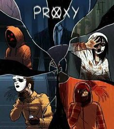 The proxies hoody, masky , ticci toby, Kate the Chaser, and slender man Slenderman Proxy, Creepypasta Slenderman, Lazari Creepypasta, Clockwork Creepypasta, Hoodie Creepypasta, Familia Creepy Pasta, Creepy Pasta Family, Jeff The Killer, Creepypastas Ticci Toby
