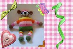 Funmigurumi Stripers: Huggums the Bear by designer craftybegonia.