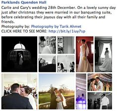 Parklands Quendon Hall @Parklands Quendon Hall @The Tabor Group Carlie and Gary's wedding 28th December. On a lovely sunny day just after christmas they were married in our banqueting suite, before celebrating their joyous day with all their family and friends. Photography by: Photography by Tarik Ahmet http://www.quendonpark.co.uk/