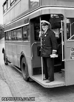 A bus conductor 1951...London Transport ones at least were often real 'characters'keeping us all entertained.