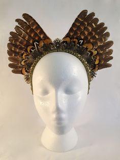 #kaipo headdress by #amaroq #feather #pheasant #halo #crown